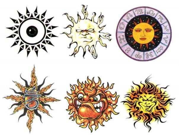 Цветные эскизы татуировок  (13)