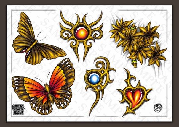 Цветные эскизы татуировок  (11)