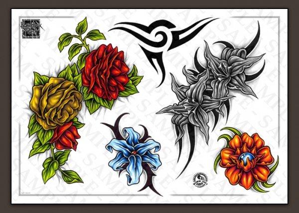 Цветные эскизы татуировок  (4)