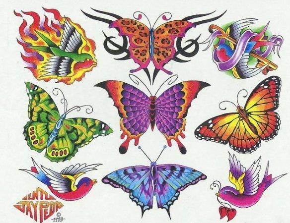 Цветные эскизы татуировок  (2)