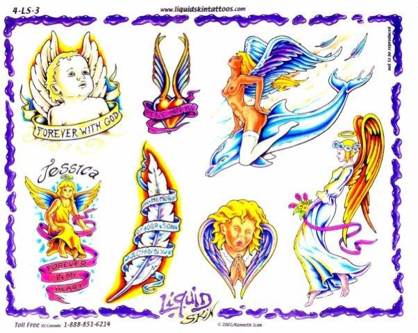 Цветные эскизы татуировок  (20)