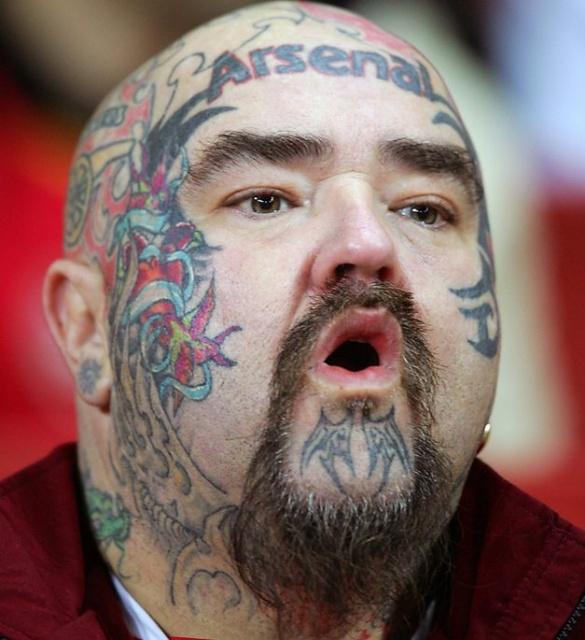 Спортивные татуировки фанатов (18)