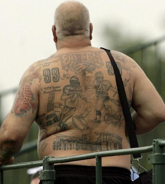 Спортивные татуировки фанатов (3)