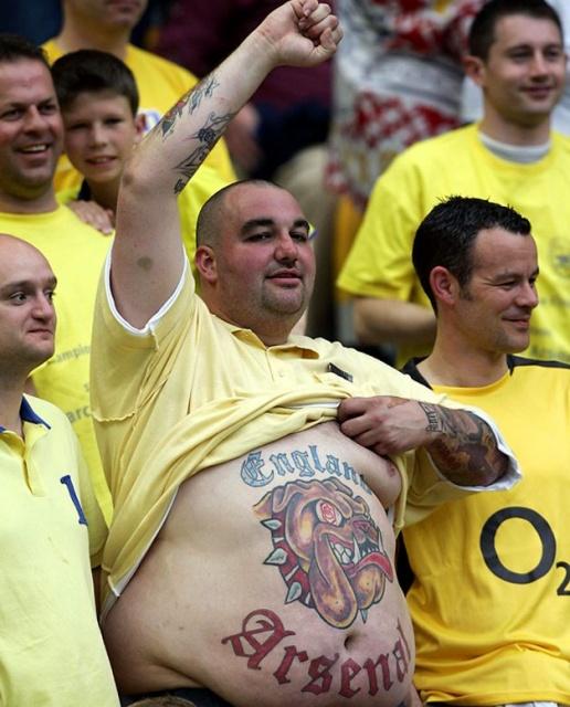 Спортивные татуировки фанатов (2)