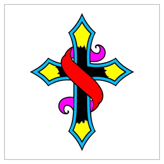 тату крест