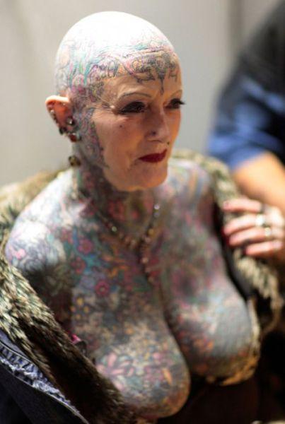 татуировки на голове (9)