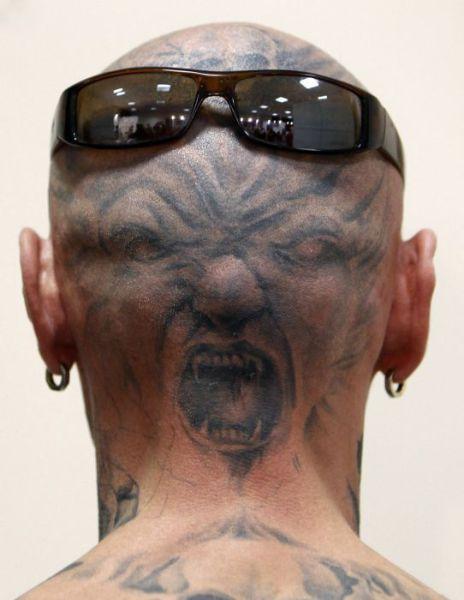 татуировки на голове (7)