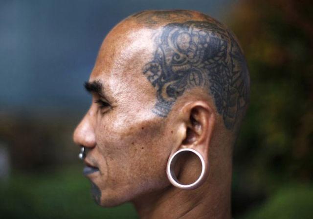 татуировки на голове (5)