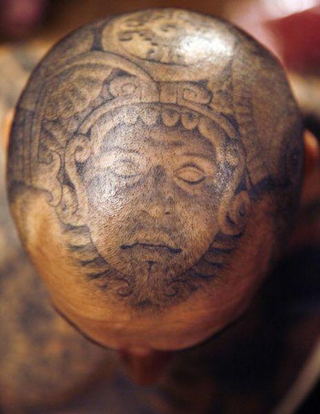 татуировки на голове (20)