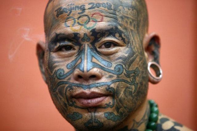 татуировки на голове (19)