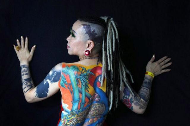 татуировки на голове (17)