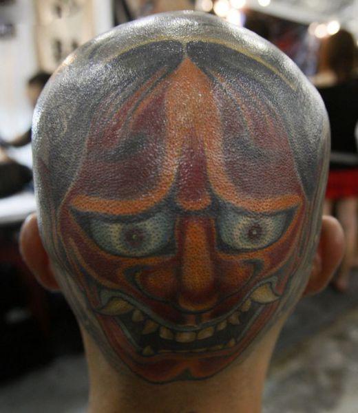 татуировки на голове (16)