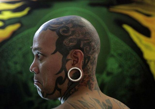 татуировки на голове (13)