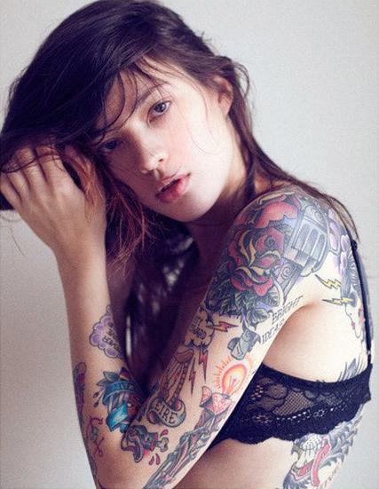 Татуировки на спине и руках
