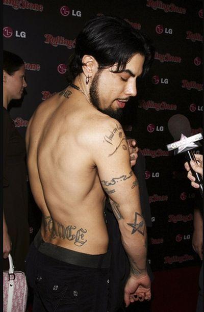 татуировки знаменитостей Dave Navarro