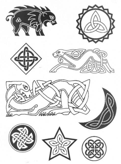 кельтские татуировки эскизы