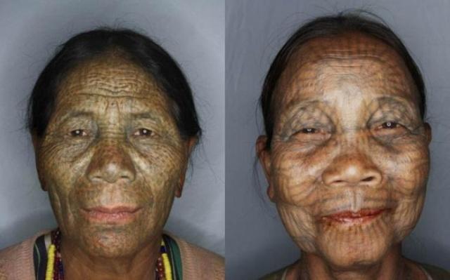 татуировки на лице (14)