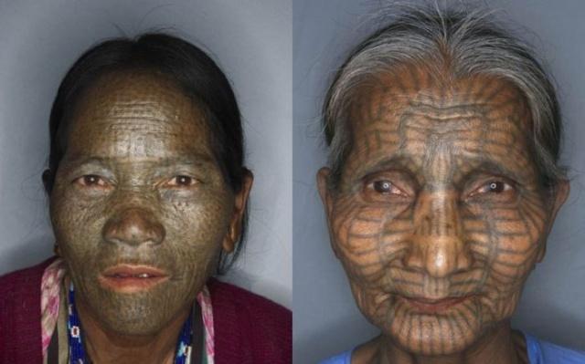 татуировки на лице (13)