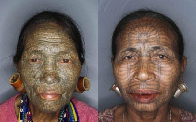 татуировки на лице (11)