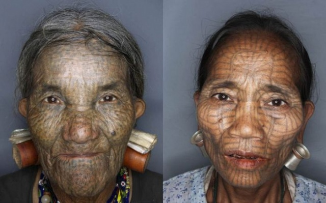 татуировки на лице (9)