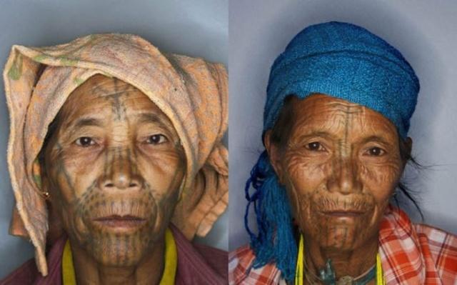 татуировки на лице (8)