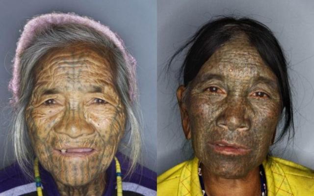 татуировки на лице (7)