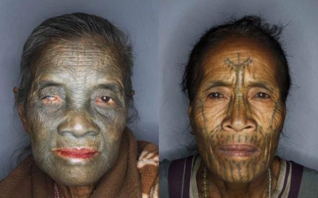 татуировки на лице (4)