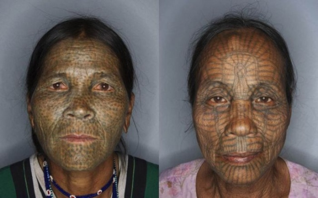татуировки на лице (3)