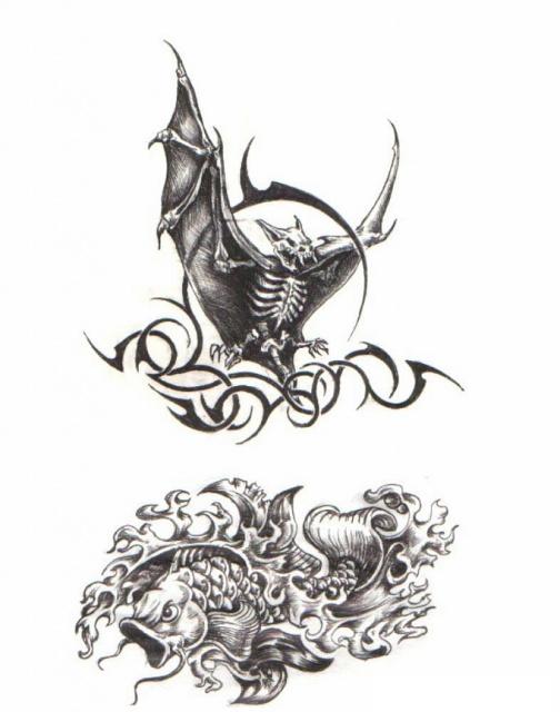 татуировка летучая мышь (28)