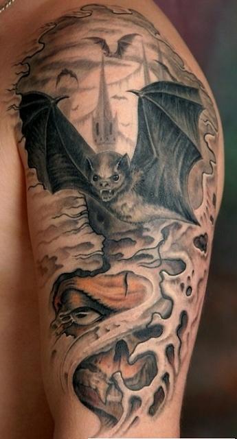 татуировка летучая мышь (25)