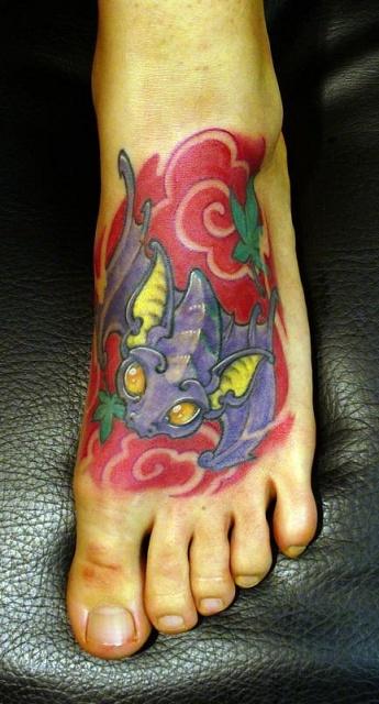 татуировка летучая мышь (16)
