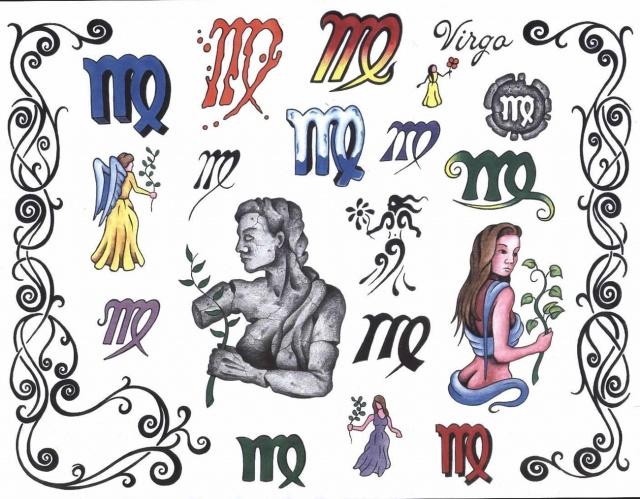 Татуировки знаки зодиака 11