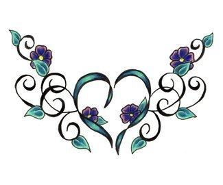 татуировки цветы (26)