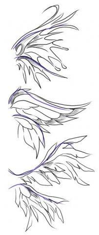 Эскизы татуировки крылья (14)