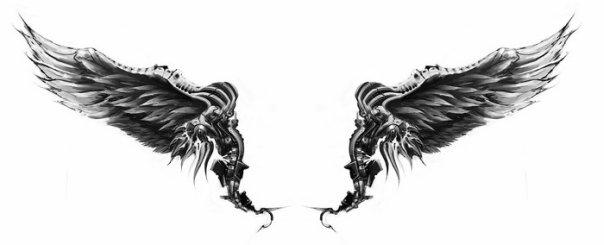 Эскизы татуировки крылья (10)