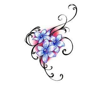 тату цветы эскизы (24)