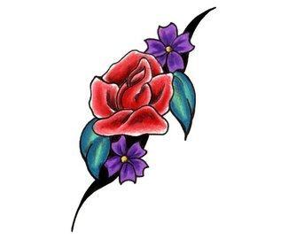 татуировки цветы (11)