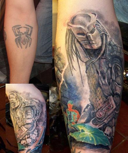 Татуировки Чужой и Хищник (21)