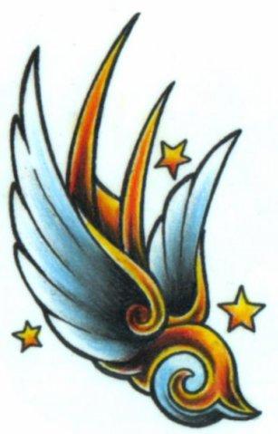 Крылья татуировки: эскизы и фото (8)