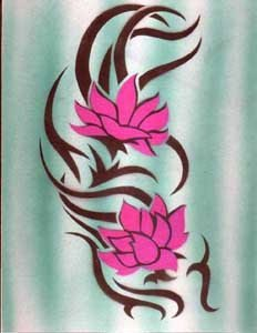 татуировки цветы (10)