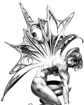 татуировки на спине крылья