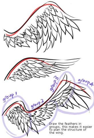 татуировка крыло