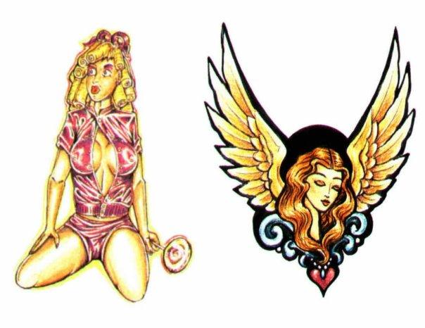 татуировка крылья ангела