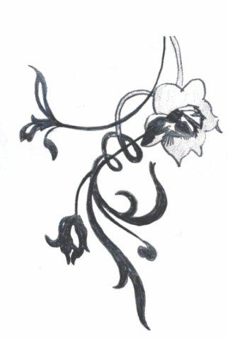татуировки цветы (7)