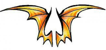 Эскизы татуировки крылья (5)