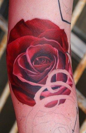 Татуировки и эскизы розы (39)