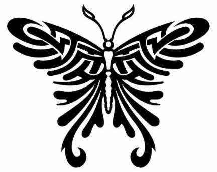 Крылья татуировки бабочки