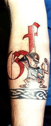 Спортивные татуировки фанатов (64)