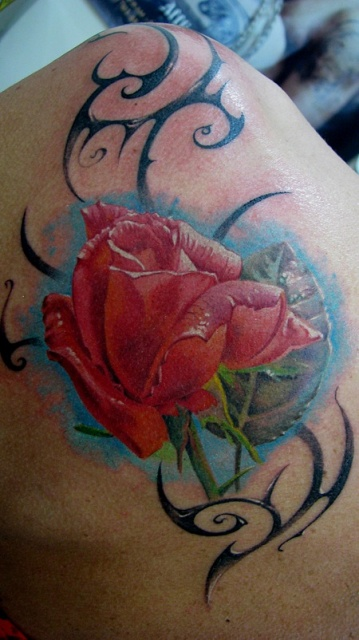 Татуировки и эскизы розы (33)