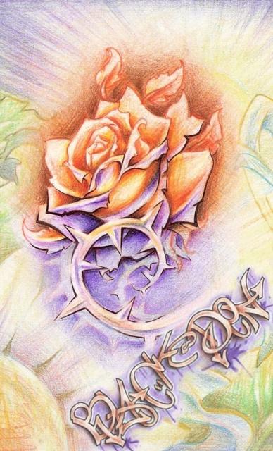 Татуировки и эскизы розы (28)